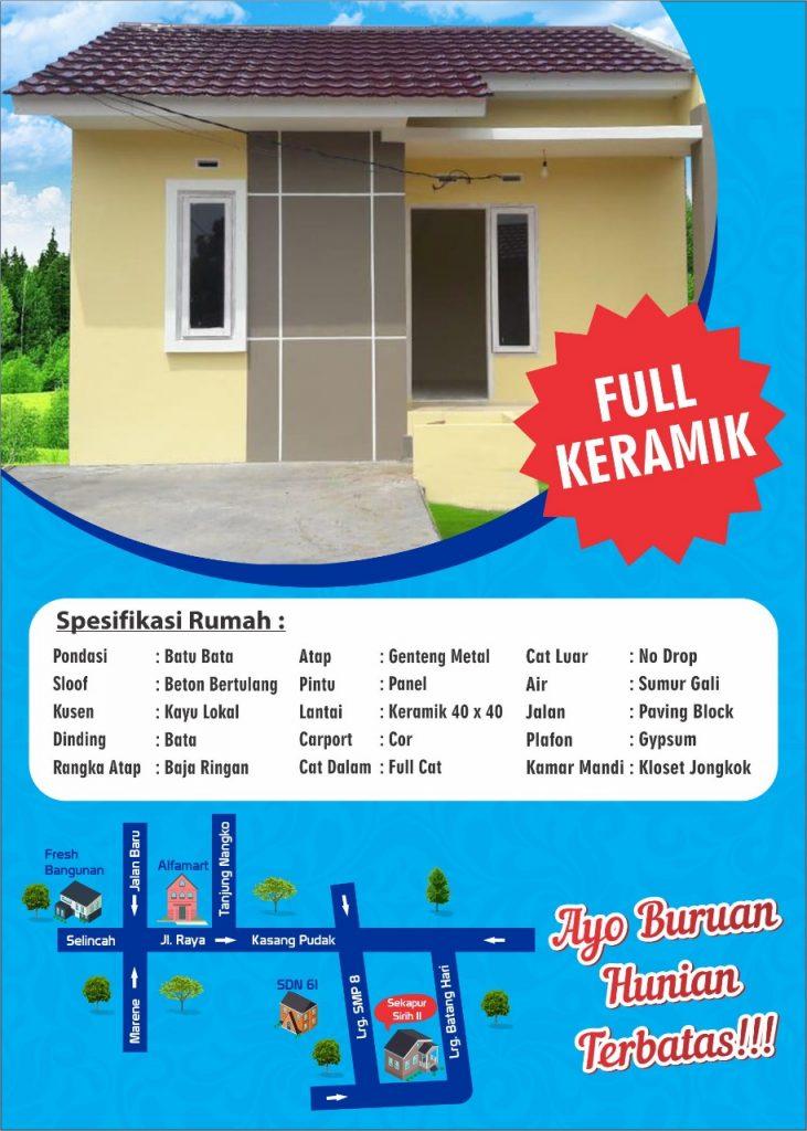 Brosur Sekapur Sirih 2 Residence Jambi