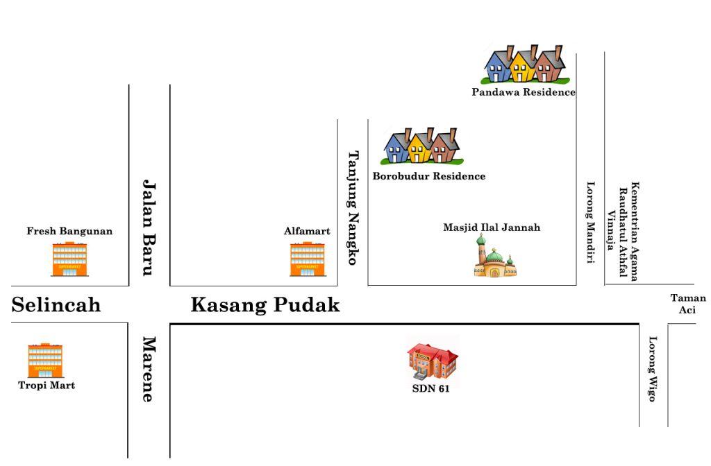 Lokasi Pandawa Residence Jambi